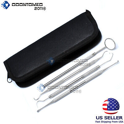 Basic 4 Dental Tooth Pick Pic Prove Set Kit Stainless Steel Hygiene Tool Pr-302