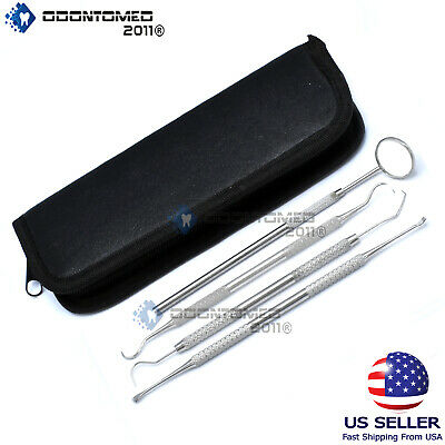 Basic 4 Dental Tooth Pick Pic Prove Set Kit Stainless Steel Hygiene Tool Pr-302