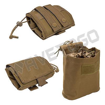 VISM NcSTAR MOLLE PALS Tactical PVC Folding Magazine Utility Drop Dump Pouch Tan