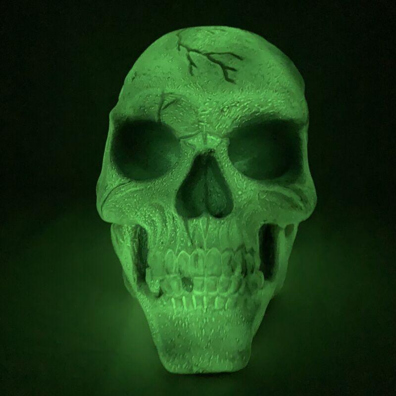Vintage Skull Halloween Easter Unlimited Rubber Foam Filled Prop Decoration Glow