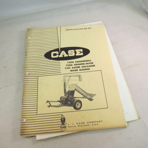 Case T500 Hammermill T500 Grinder-mixer T101 Auger Unloader Mixer Cat No. 835