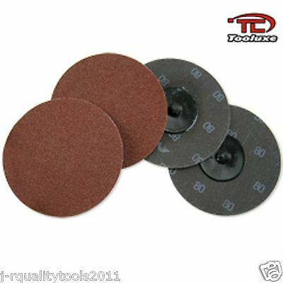 50 2 Roloc R Type Sanding Abrasive Discs Roll Lock With Mandrel 24 Grit