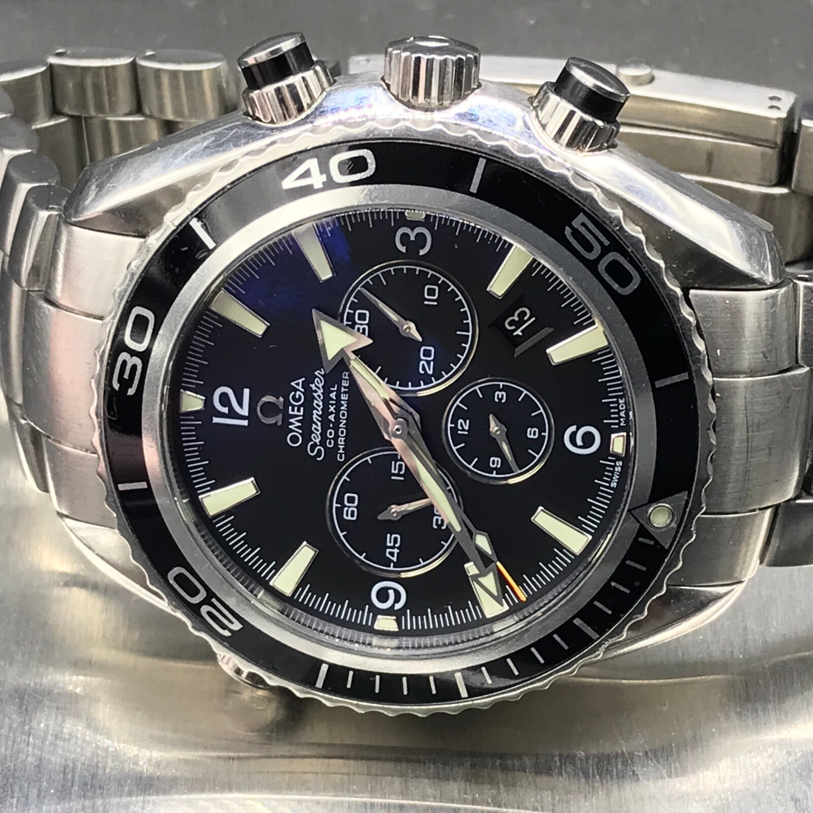 Omega Seamaster Planet Ocean 45mm Triple Chronograph Watch - watch picture 1