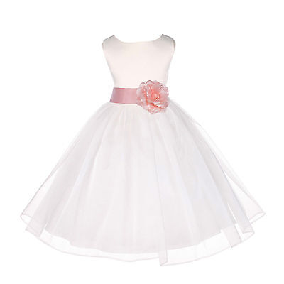 ORGANZA FLOWER GIRL DRESS PAGEANT WEDDING BRIDESMAID PARTY BIRTHDAY RECEPTION - Flower Girl Dresses Organza