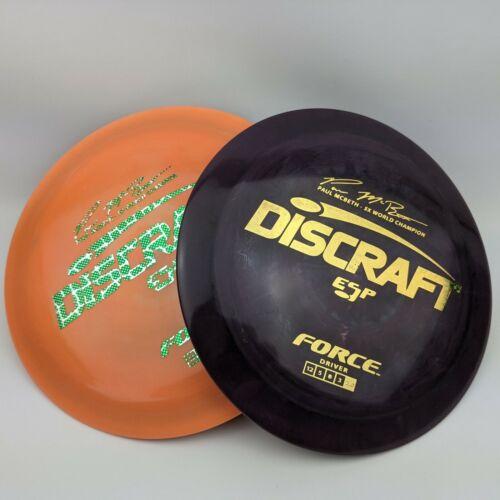 DISCRAFT MCBETH 5X ESP FORCE | CHOOSE COLOR | 173-174g | Disc Golf Disc | Driver
