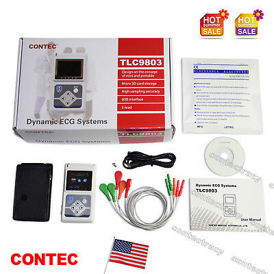 Us Fda 3 Channel Ecg Holter 24 Hours Dynamic Ekg Holter Portable Ecg Monitorsw