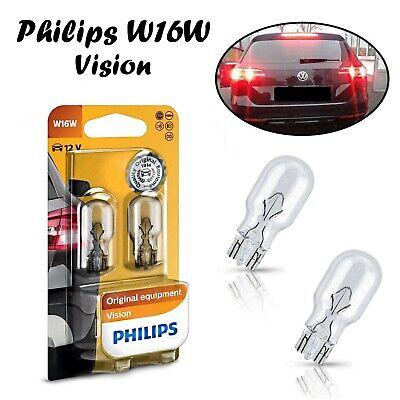 Philips W16W Vision 12V 12067B2 Bremslicht Hecklicht Rückfahrlicht Ersatz Birne (Camry Subwoofer)