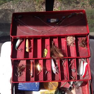 Vintage tackle box and gear