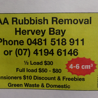 AAA Rubbish Removal Hervey Bay 4 cubic mtres $70 full price Urangan Fraser Coast Preview