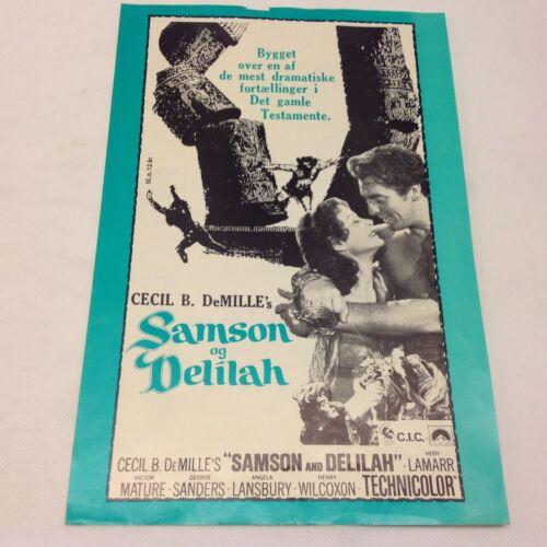 Samson and Delilah Hedy Lamarr Victor Mature Vtg 1949 Danish Movie Press Release