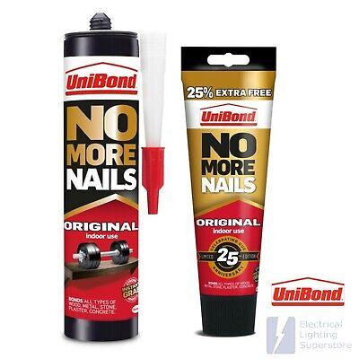 Unibond No More Nails Adhesive OriginaI Interior Glue Bond Grab Wood Metal Stone