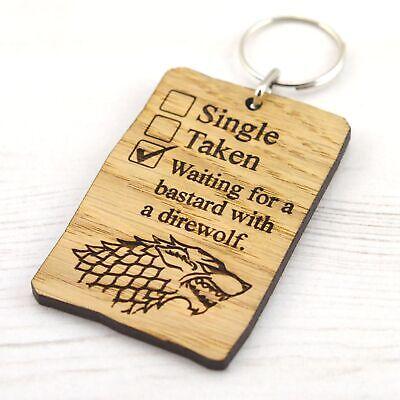 Game Of Thrones - I Love Jon Snow Funny Keyring Direwolf Checklist Gift Present