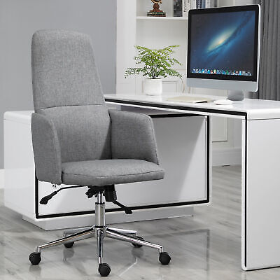 Vinsetto Geometric Design Office Chair Breathable Fabric with Wheels, High Back