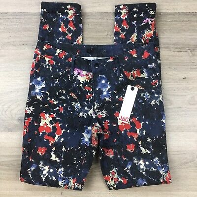 JAG Women's Jeans Printed Floral Skinny Mid Rise Size 10 W30 L32 NWT (AV2)