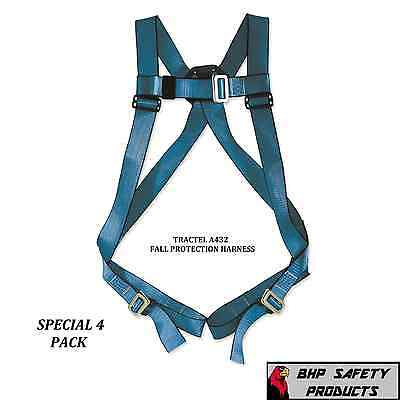 4 Pack Tractel A432 Blue Phoenix Fall Protection Safety Harness W Back D Ring