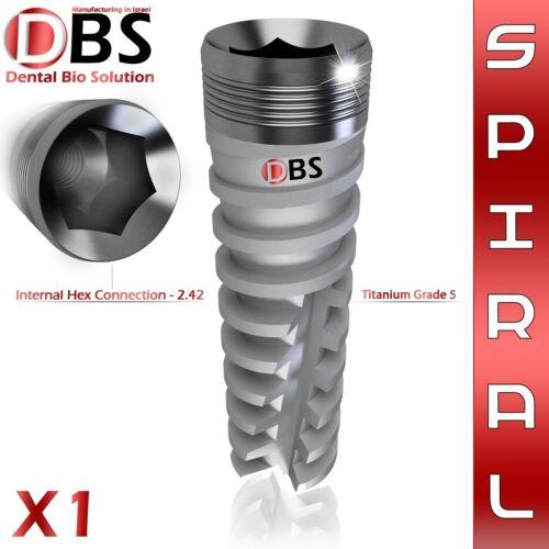 1X Dental Implant Spiral Titanium Sterile - DBS Original Brand - Hex 2.42 lab