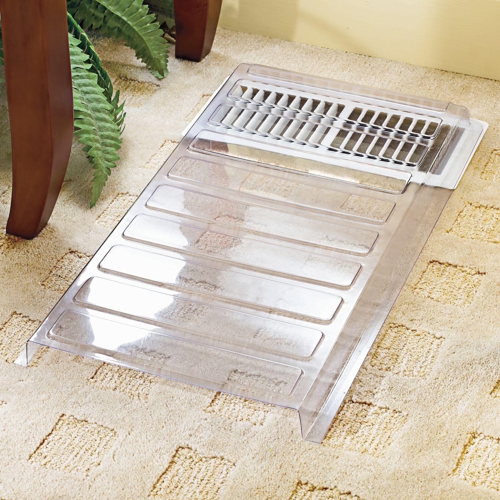 "Floor Vent Extender for Under Furniture – Heat and AC Register Deflector – 11"""