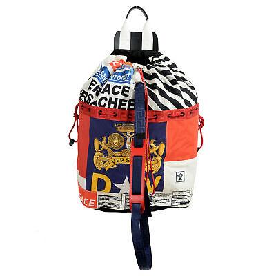 Versace Men's Multi-Color Canvas Backpack Large Bag