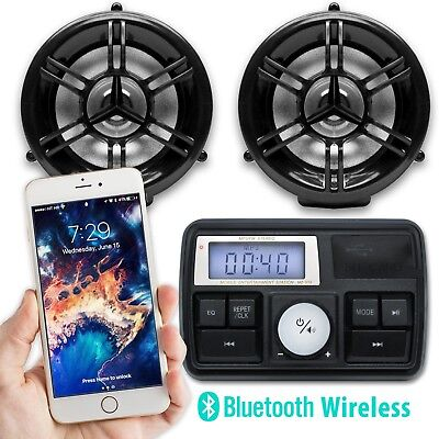 Waterproof Bluetooth Motorcycle Audio Radio Amplifier Stereo Speakers System MP3