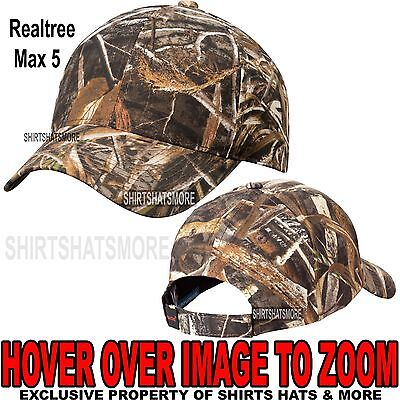reputable site 66f74 8b2ad Men s Realtree Max 5 Camo Hat Baseball Cap Hunting Adjustable NEW!