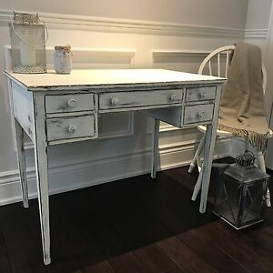 Rustic Vintage French Shabby Chic Desk and Chair