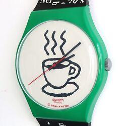 SWATCH MAXI CAPPUCCINO MGG121 Wall Clock 1992 83 Inch!! Swiss Watch Switzerland