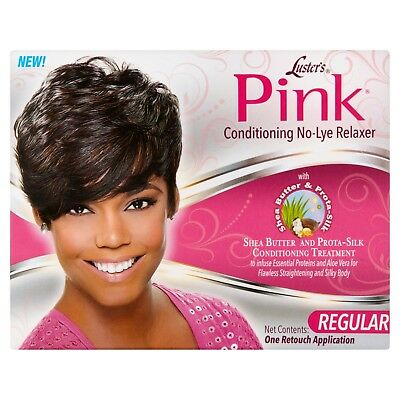 Luster's Pink Conditioning No-Lye Relaxer Kit for Straightening Hair - Regular -