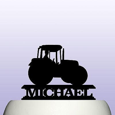 Farm Tractor Cake Topper Decoration & Farmers Keepsake Gift (Farm Cake Topper)