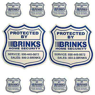 2 Home Security Yard Signs And 8 Security Decals Brinks Adt