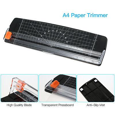 Portable Paper Cutter A4 Paper Trimmer 12 Photo Guillotine Craft Machine K9k6