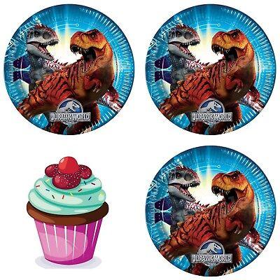 Jurassic World Dinosaurier Eßbar Tortenbild Party Deko Muffinaufleger Cupcake