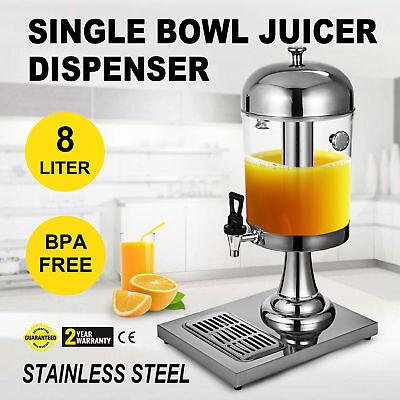 Single 8l Juice Drink Dispenser Beverage Buffet Machine Fruit Hotel