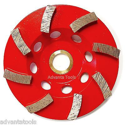 4 Spiral Turbo Concrete Diamond Grinding Cup Wheel 8 Segs 78-58 Arbor