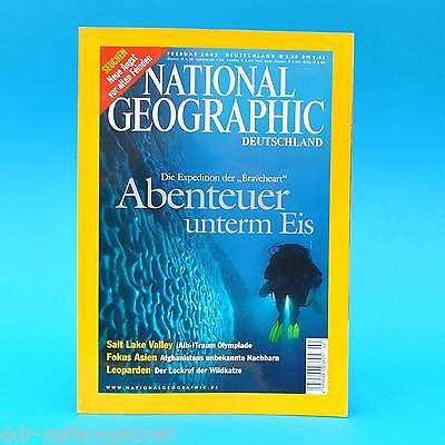 National Geographic Februar 2002 Antarktika Seuchen Salt Lake Valley Leoparden