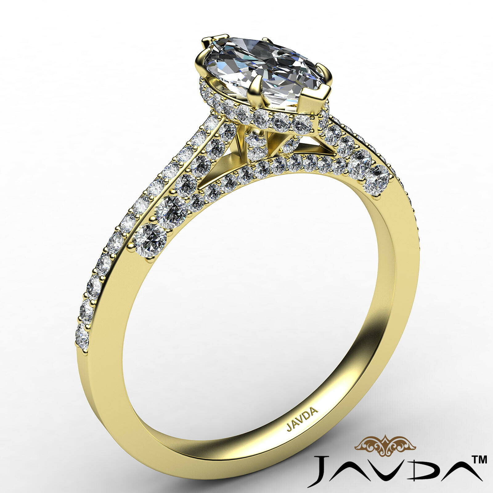 Circa Halo Marquise Diamond Engagement Ring GIA G Color & VVS2 clarity 1.1 ctw 4