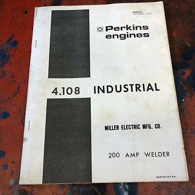 Perkins Miller Welder Parts Diesel Engine Manual 4.108