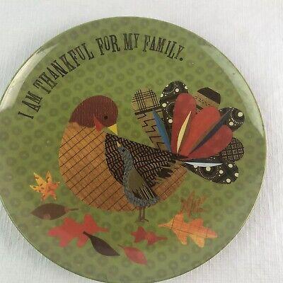 Thanksgiving Plates Dinnerware (Pottery Barn Kids Thanksgiving Melamine Plate Fall Harvest Turkey Dinner Ware)