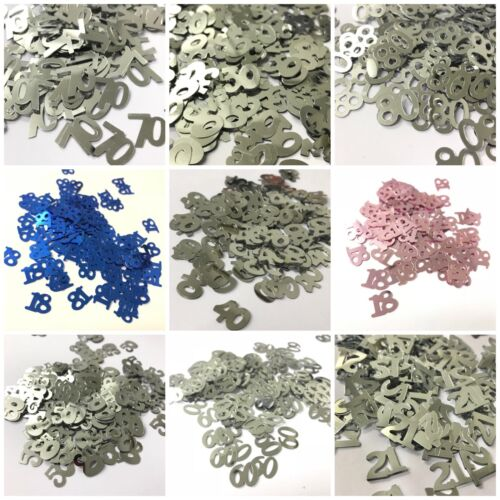 NUMBER TABLE CONFETTI - 18 21 30 40 50 60 80 BIRTHDAY DECORATION PARTY