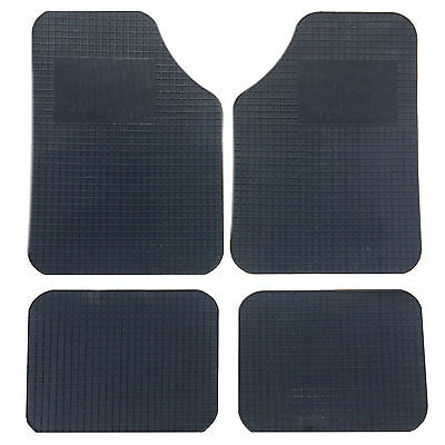 Black Rubber Universal Mats Fits All Cars   One Size Fits All