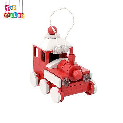 Red Train Christmas Building Bricks Toys Set 75 Pieces Bricks for Decoration