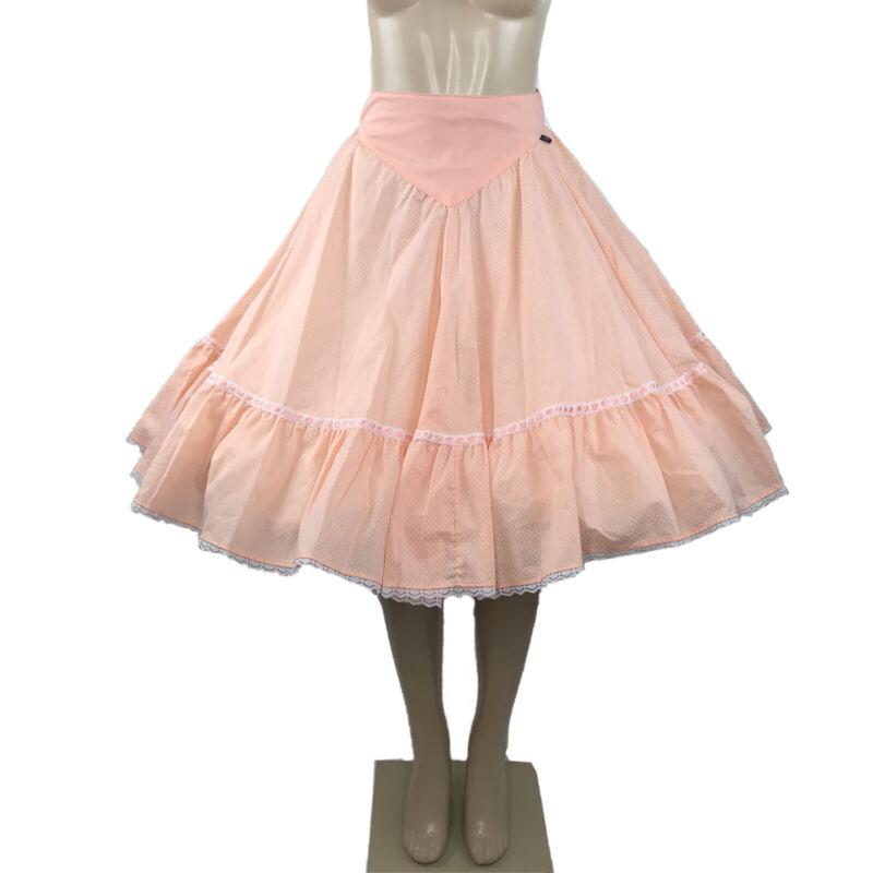 Vintage Square Dance Skirt Polka Dot Lace Rockabilly Western Cowgirl Rockmount