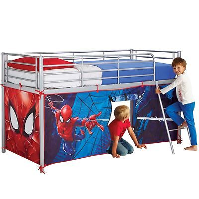 OFFICIAL SPIDERMAN MID SLEEPER BED TENT PLAY FUN BEDROOM BOYS