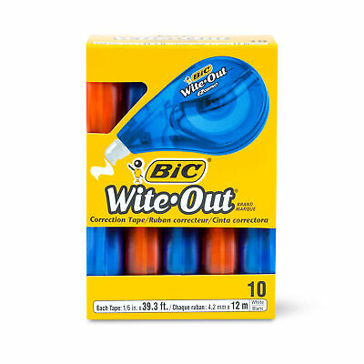 Bic Wite-out Brand Ez Correct Correction Tape 10-count