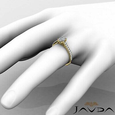 100% Natural Cushion Diamond Engagement Prong Set Ring GIA F Color VS1 0.75 Ct 11