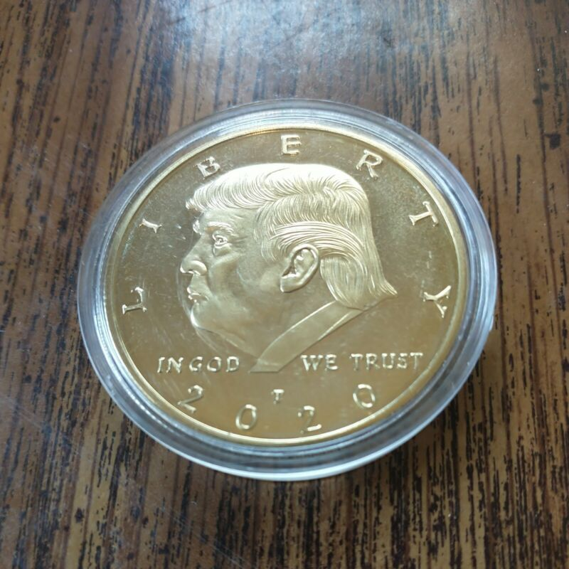 Donald Trump  2020 - Keep America Great Coin (Gold Colored Coin) Ships Next Day.