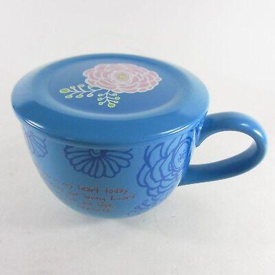 Abbey Press - Abbey Press Coffee Tea Mug Prayer Collection Ceramic Lid Coaster Blue Psalm 71:5