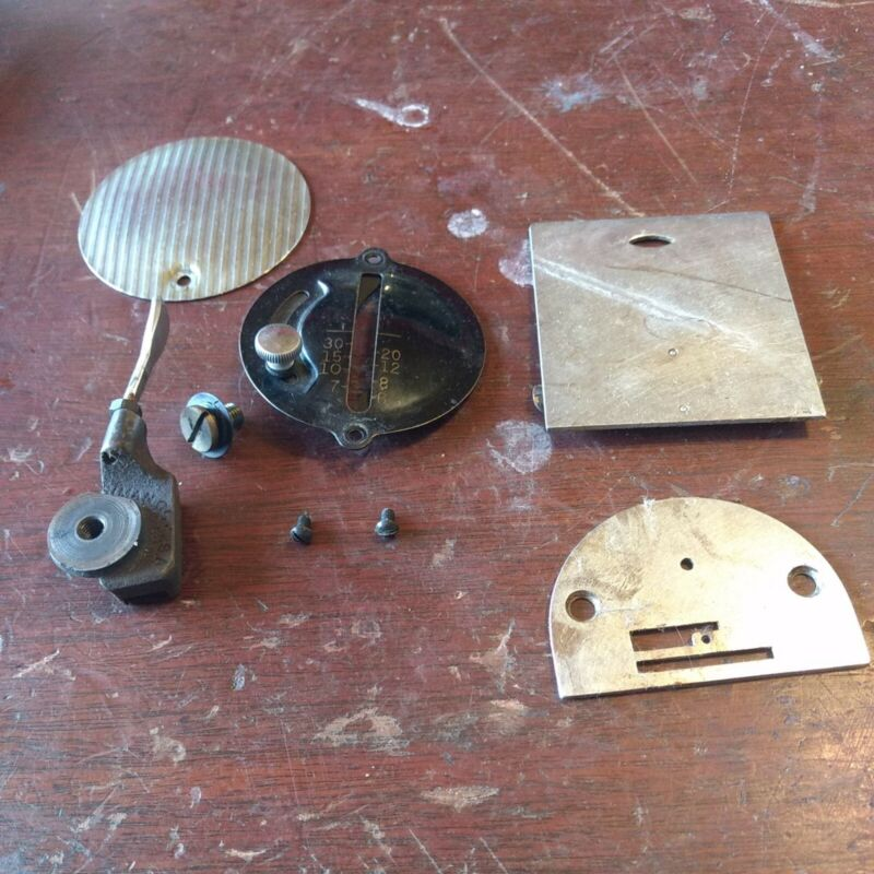 Lot 81-1 Singer 15-91 Thread Tensioner Chrome Inspection Plate Needle Plate...