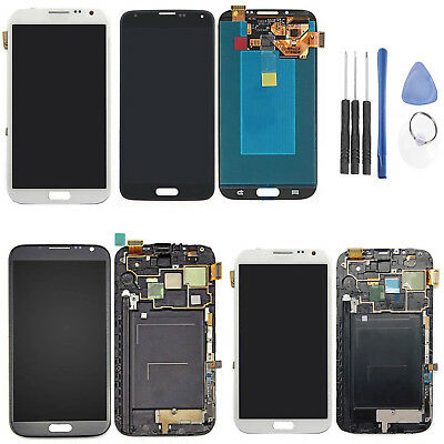 Replacement Full Touch Screen LCD Display Frame For SAMSUNG Galaxy Note 2