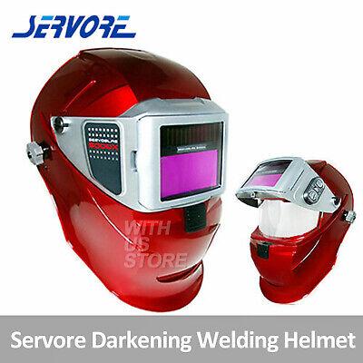 Servore Auto Lift & Auto Darkening Welding Helmet 5000X-SLIDE(Red)