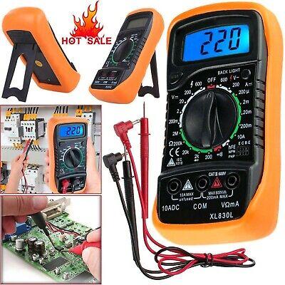 Digital Multimeter Ac Dc Current Voltmeter Ammeter Ohmmeter Volt Tester Meter